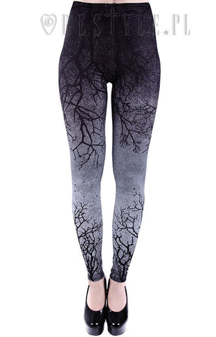 Restyle Gothic Branch Leggings in Gray
