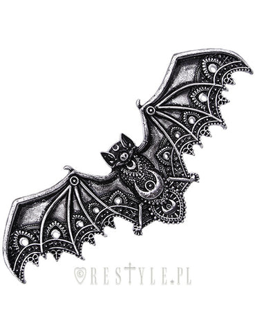 Lace Bat Hairclip in Silver