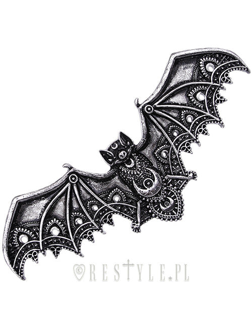 Lace Bat Hairclip in Silver,  Hair Clip, Restyle gothic kawaii sweet japanese street fashion japan decora Lolita Collective