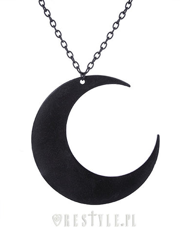Moon Necklace in Black