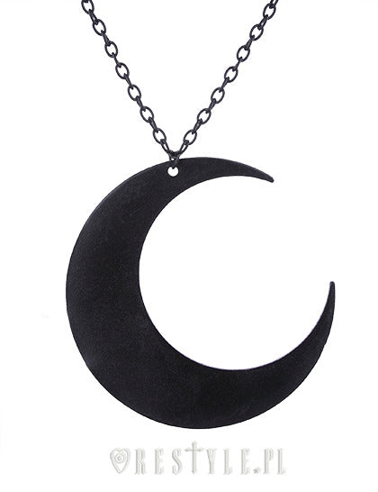 Giant Moon Necklace in Black