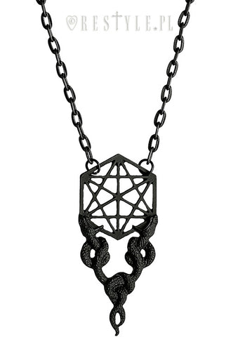 Sacred Snake Necklace in Black