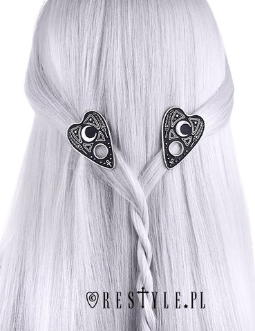 Ouija Planchette Hairclips,  Hair Clip, Restyle gothic kawaii sweet Lolita Collective