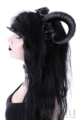 Sinister Horns and Roses Headband