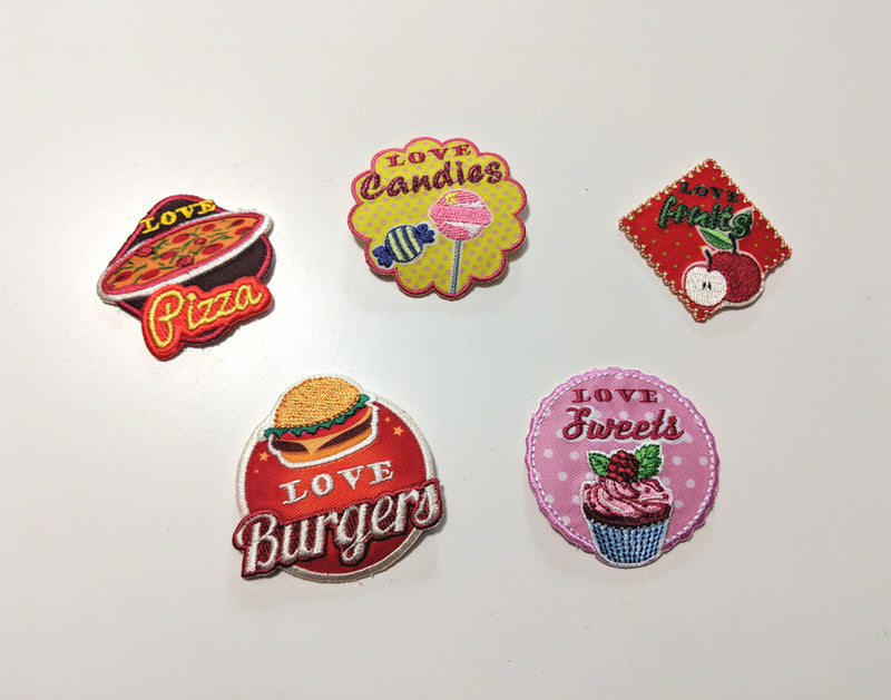 Food Love Patches,  Patch, The Black Ribbon gothic kawaii sweet japanese street fashion japan decora Lolita Collective