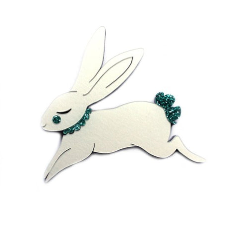 Jumping Bunny Brooch,  Brooch, Miss Ella gothic kawaii sweet Lolita Collective