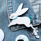Jumping Bunny Brooch,  Brooch, Miss Ella gothic kawaii sweet japanese street fashion japan decora Lolita Collective