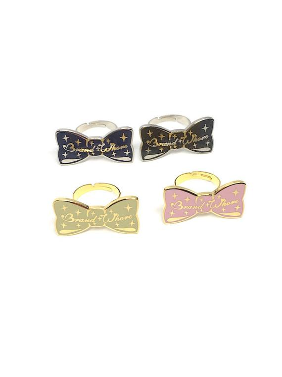 Brand W**** Bow Ring (4 Colors)