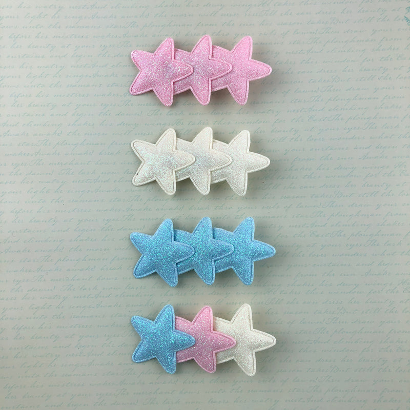 Three-Star Clip (single) (4 Colors),  Hair Clip, A Gato Designs gothic kawaii sweet japanese street fashion japan decora Lolita Collective