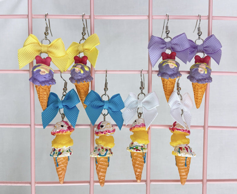 Fancy Ice Cream Earrings (4 Colors)