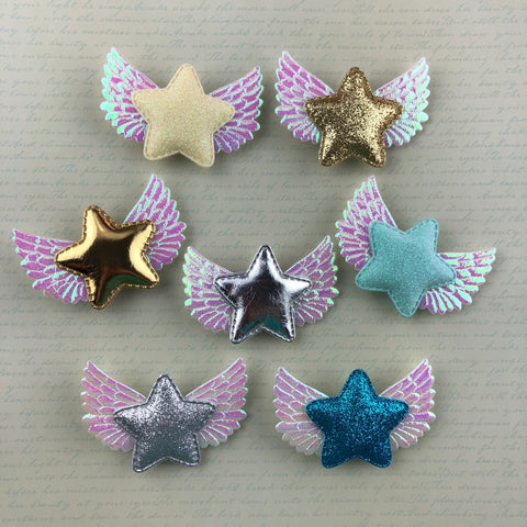 Wing Star Single - Medium Size (7 Colors),  Hair Clip, A Gato Designs gothic kawaii sweet japanese street fashion japan decora Lolita Collective