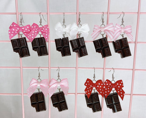 Milk Chocolate Earrings (5 Colors)