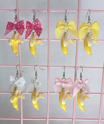 Banana Earrings (4 Colors)