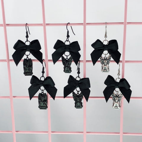 Gargoyle Earrings (3 Colors),  Earrings, Interspecies Friendship gothic kawaii sweet japanese street fashion japan decora Lolita Collective