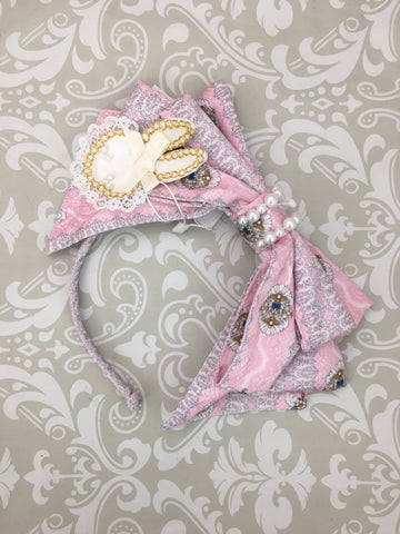 My Favorite Companion Headbow in Pink,  Headband, Baby Ponytail gothic kawaii sweet japanese street fashion japan decora Lolita Collective