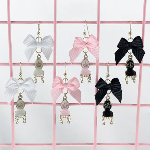 Fancy Chair Earrings (3 Colors),  Earrings, Interspecies Friendship gothic kawaii sweet japanese street fashion japan decora Lolita Collective