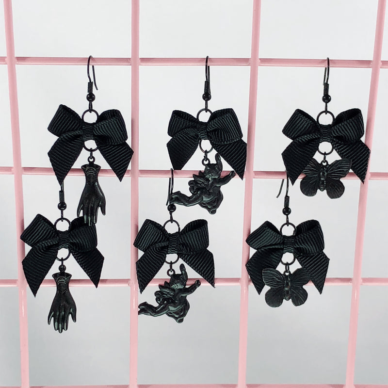 Gothic Earrings (3 Colors),  Earrings, Interspecies Friendship gothic kawaii sweet japanese street fashion japan decora Lolita Collective