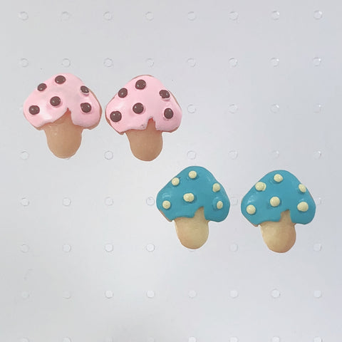 Mushroom Cookie Earrings (2 Colors)