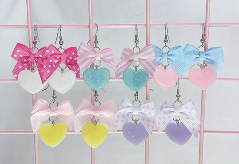 Twinkle Heart Earrings (5 Colors)