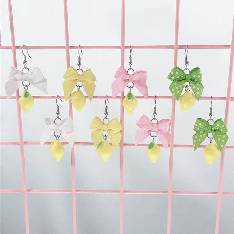 Lemon Earrings (4 Colors)