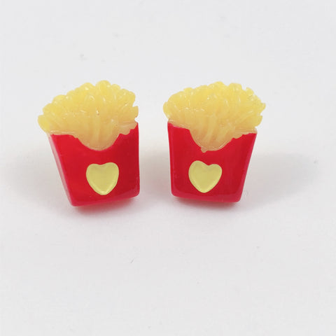 Fries Earrings,  Earrings, Interspecies Friendship gothic kawaii sweet japanese street fashion japan decora Lolita Collective