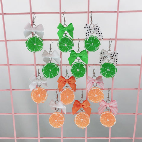 Chunky Citrus Earrings (6 Colors),  Earrings, Interspecies Friendship gothic kawaii sweet japanese street fashion japan decora Lolita Collective
