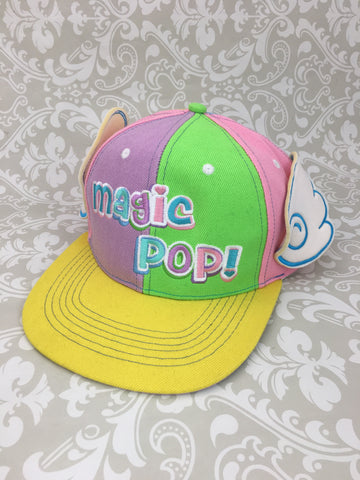 Magic Pop! 5 Year Anniversary Snap Back Hat,  Hat, Moon Kitty Productions gothic kawaii sweet japanese street fashion japan decora Lolita Collective