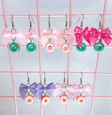Donut Earrings (5 Colors)