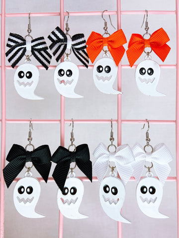 White Ghost Earrings (4 Colors)