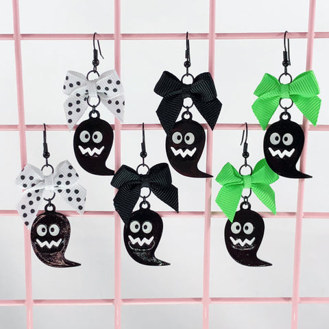 Black Ghost Earrings (3 Colors),  Earrings, Interspecies Friendship gothic kawaii sweet japanese street fashion japan decora Lolita Collective