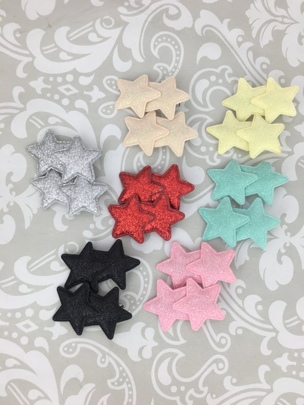Glitter Twin Star Clip Set (9 Colors)