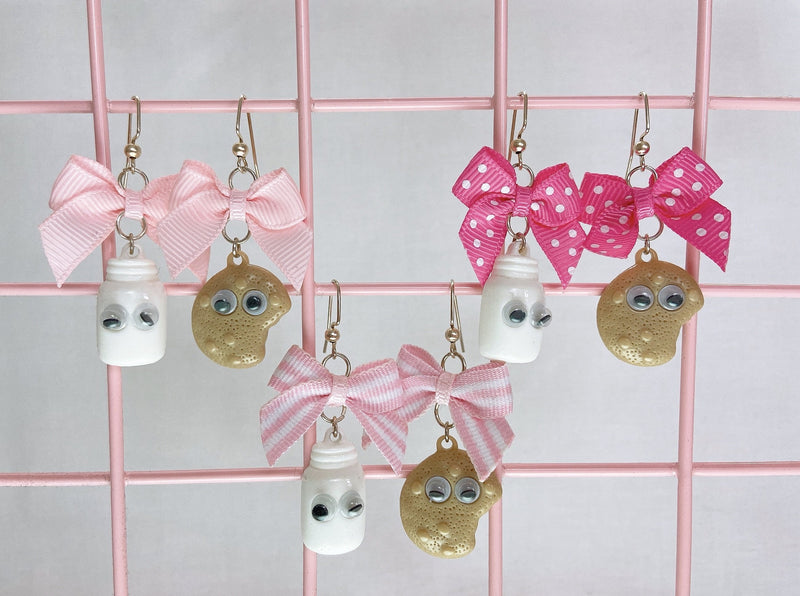 Milk and Cookie Earrings (3 Colors)
