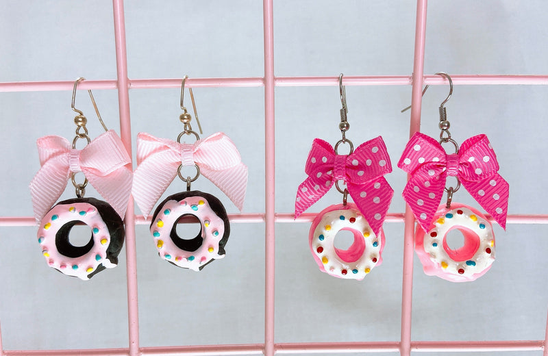 Sprinkle Donut Earrings (2 Colors)