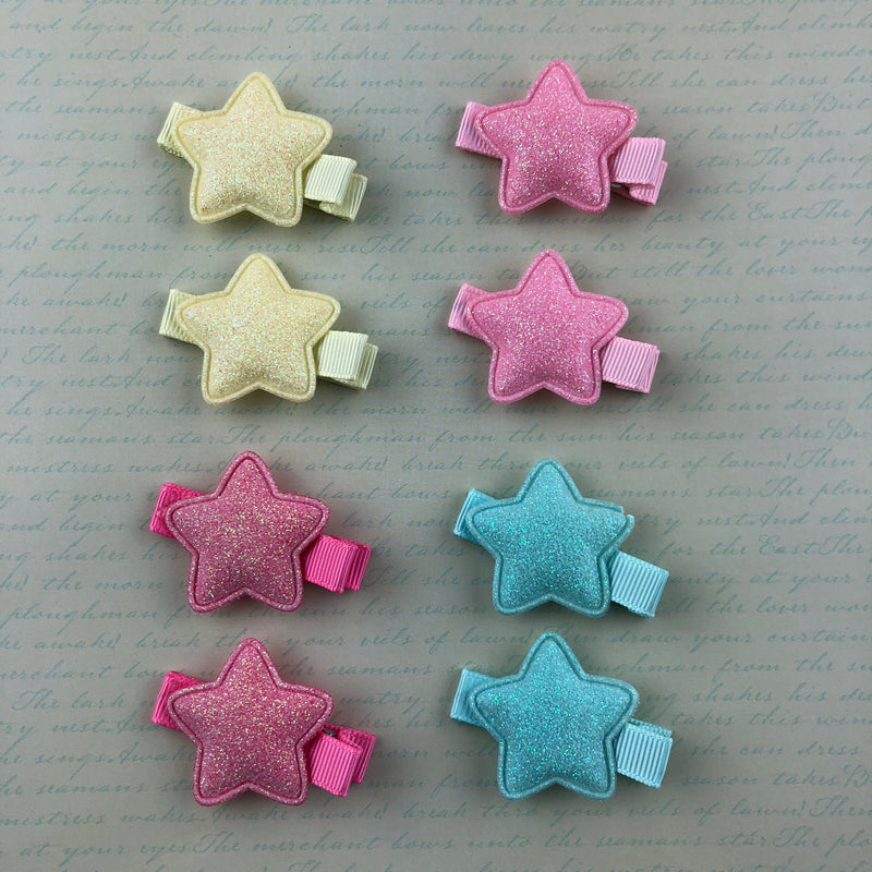 Glitter Star Clip Set (4 Colors),  Hair Clip, Lolita Collective gothic kawaii sweet japanese street fashion japan decora Lolita Collective