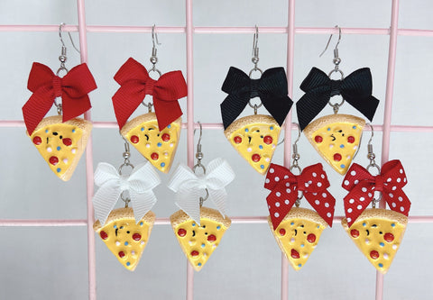 Pizza Slice Earrings (4 Colors)