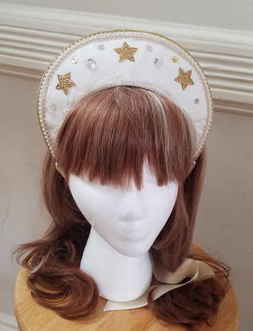 Celestial Halo Kokoshnik,  Hat, The Black Ribbon gothic kawaii sweet Lolita Collective
