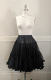 Soft Petticoat (tea length) - Black,  Petticoat, The Black Ribbon gothic kawaii sweet Lolita Collective