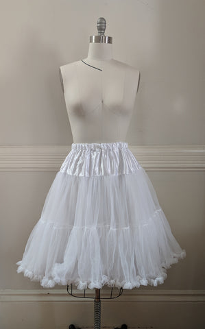 Soft Petticoat (tea length) - White,  Petticoat, The Black Ribbon gothic kawaii sweet Lolita Collective