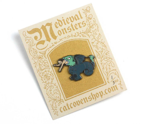 Medieval Monsters: Man-Eater Pin,  Enamel Pin, Cat Coven gothic kawaii sweet japanese street fashion japan decora Lolita Collective