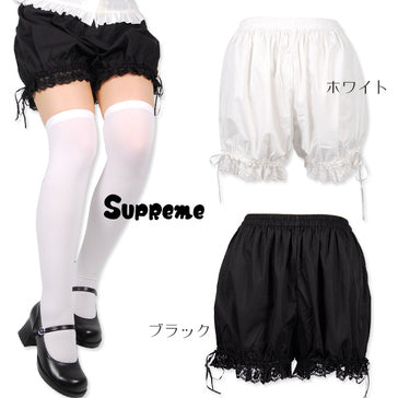 Rose Lace Short Drawers in Black,  Bloomers, JoyBank gothic kawaii sweet Lolita Collective