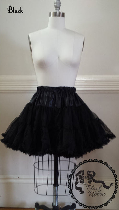 Fluffy Petticoat - Black,  Petticoat, The Black Ribbon gothic kawaii sweet japanese street fashion japan decora Lolita Collective