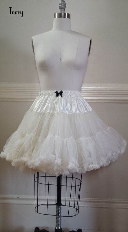 Fluffy Petticoat - Ivory,  Petticoat, The Black Ribbon gothic kawaii sweet japanese street fashion japan decora Lolita Collective