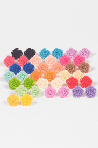 Rose Post Earrings (19 Colors),  Earrings, Maiden Loliland gothic kawaii sweet Lolita Collective
