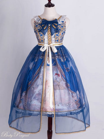 Masquerade Ballet Jumperskirt in Royal Blue,  Jumperskirt, Baby Ponytail gothic kawaii sweet Lolita Collective