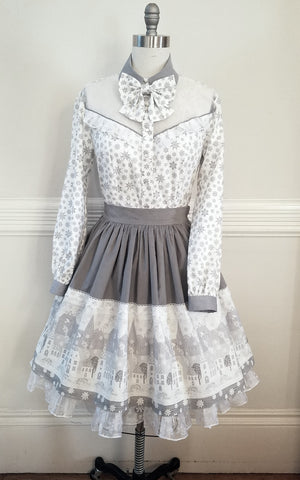Snow Day Skirt,  Skirt, The Black Ribbon gothic kawaii sweet Lolita Collective