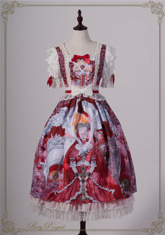 Magical Amulet Onepiece in Red,  Onepiece, Baby Ponytail gothic kawaii sweet Lolita Collective