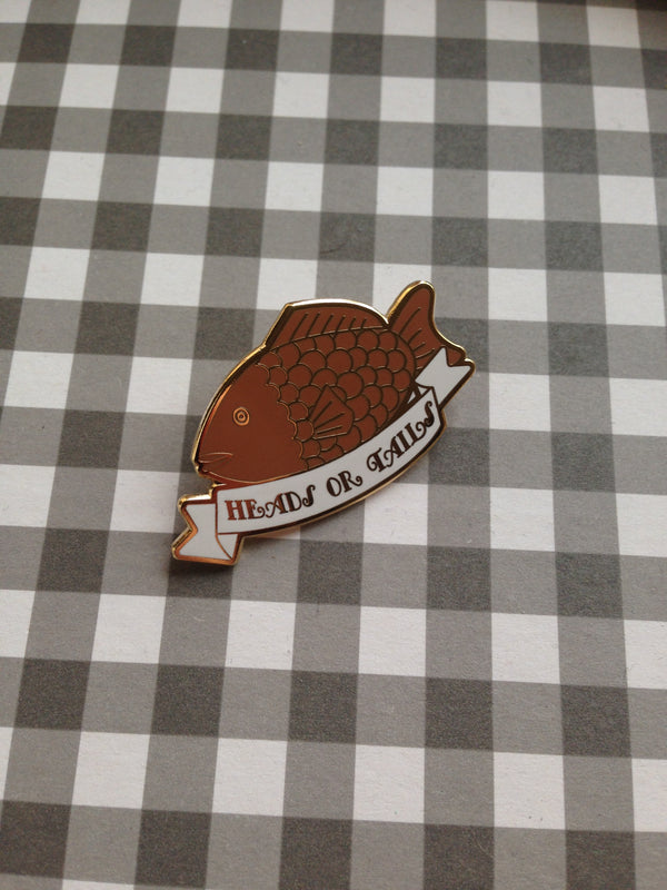 Taiyaki Enamel Pin,  Enamel Pin, A Gato Designs gothic kawaii sweet japanese street fashion japan decora Lolita Collective