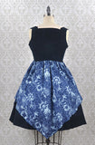 Long Ears Sharp Ears Map To Buried Treasure Pirate Jumperskirt in Navy Blue