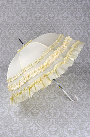 Deluxe Ruffled Cream Parasol Umbrella,  Parasol, Lolita Collective gothic kawaii sweet japanese street fashion japan decora Lolita Collective