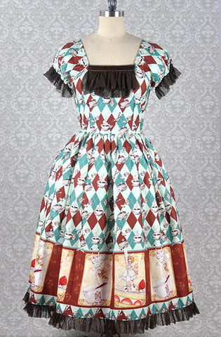 Thumbelina's Tea Party Onepiece Dress in Mint,  Onepiece, R Series gothic kawaii sweet Lolita Collective